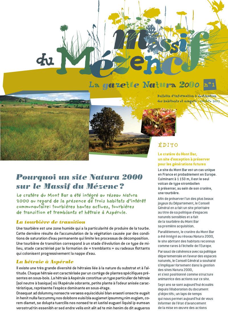 CG 43 lettre natura 2000
