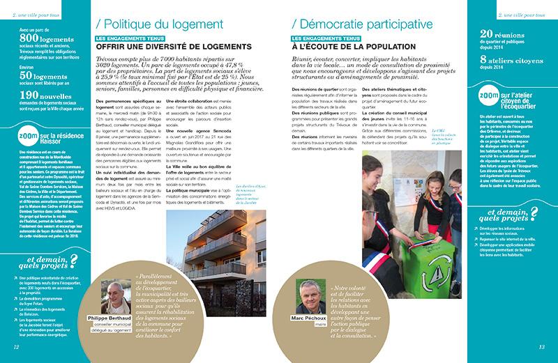 édition ville de Trévoux bilan mi-mandat