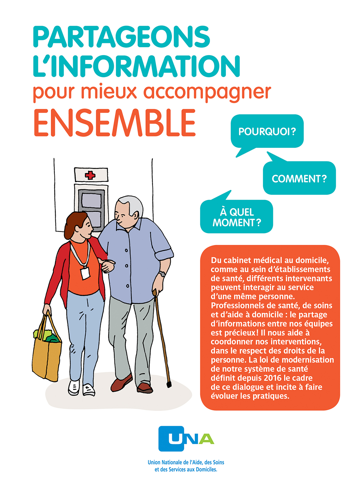 edition una Union Nationale de l'Aide dépliant A5 illustration