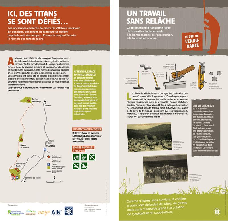 expostion sentier d'interprétation des hommes forts CEN Rhône-Alpes panneau