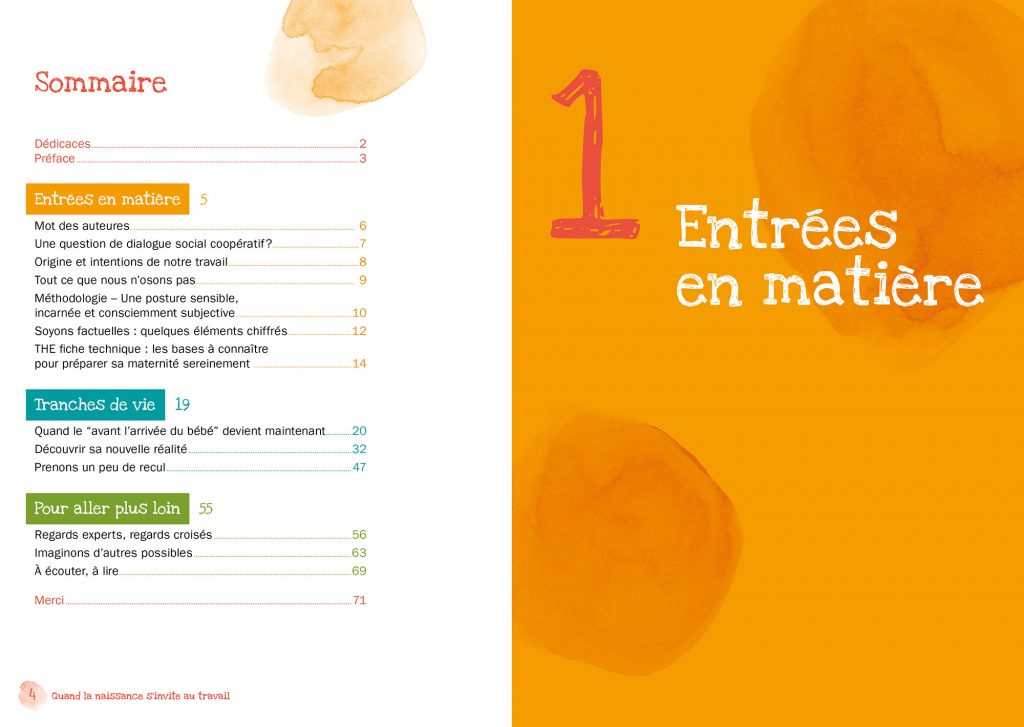 édition brochure oxalis maternité entrepreneure