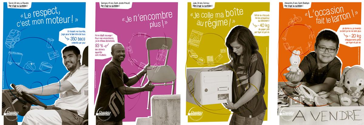 campagne stratégie Chambéry métropole affiche decaux