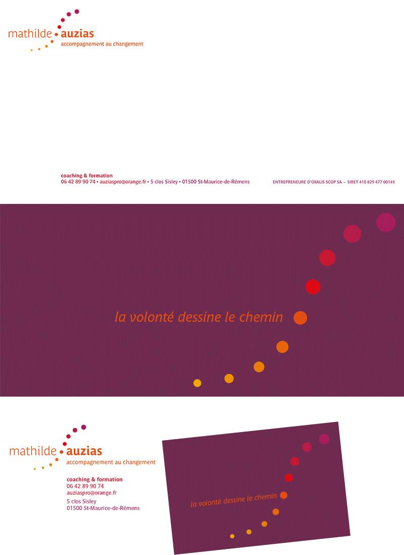Mathilde Auzias papeterie carte de correspondance carte de visite