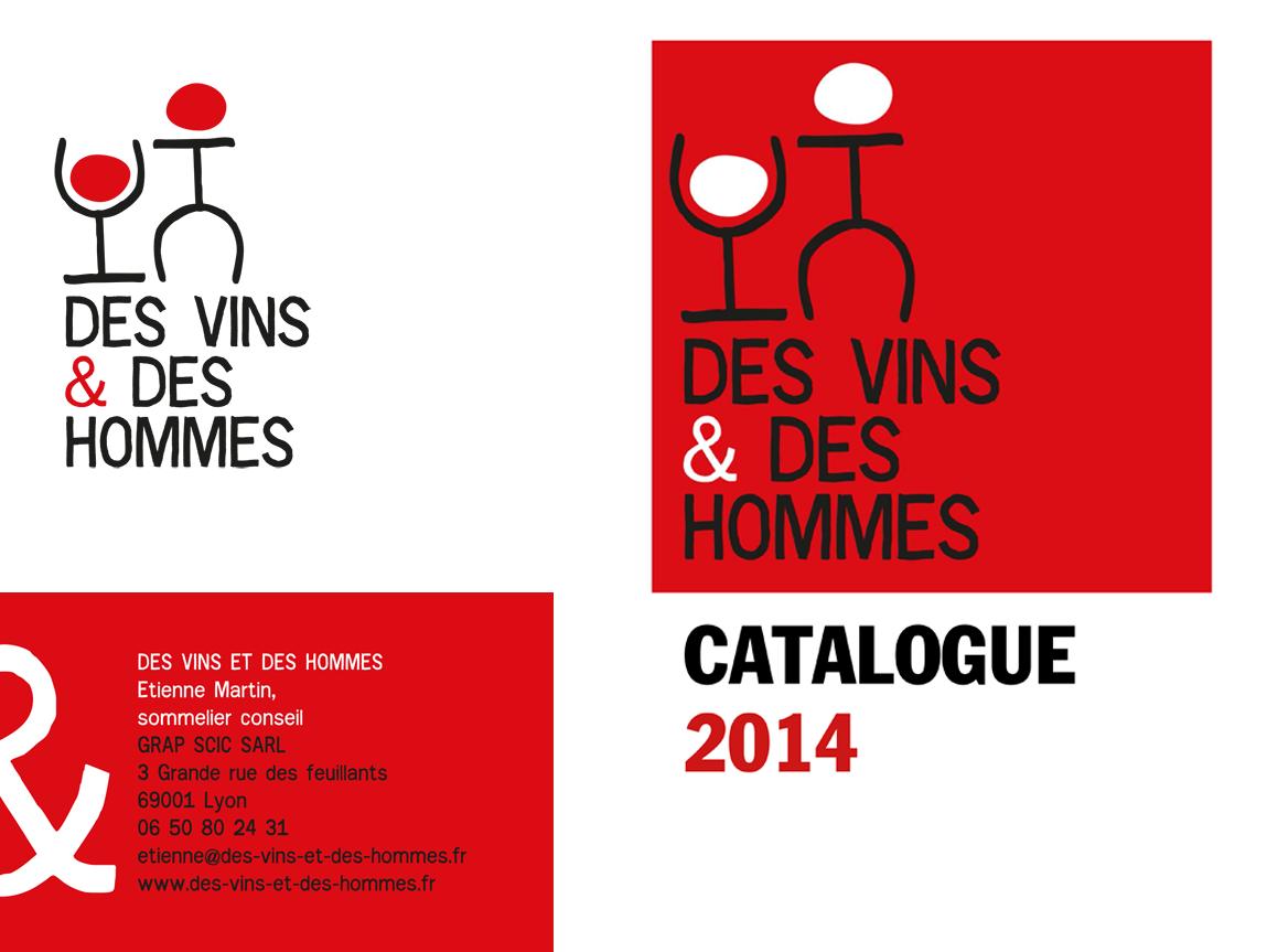 Des vins et des hommes carte de visite dépliant