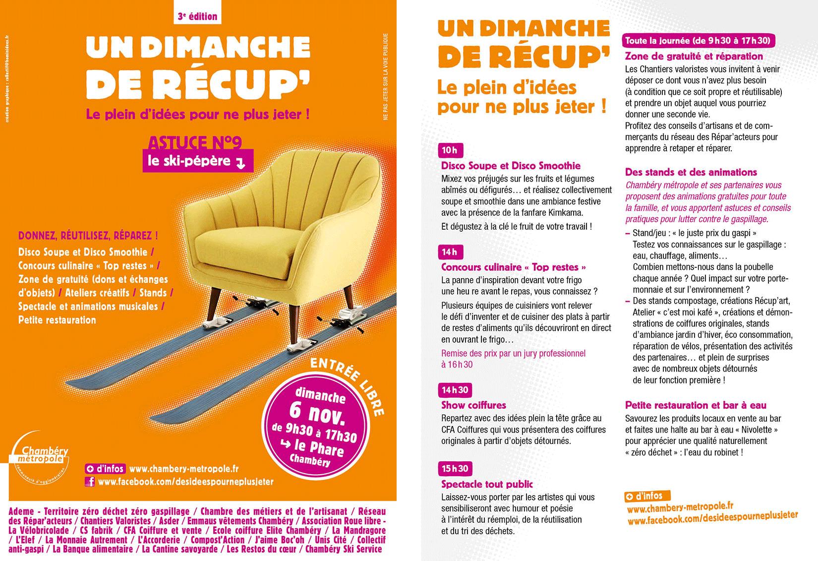 campagne Chambéry métropole dimanche de récupération programme