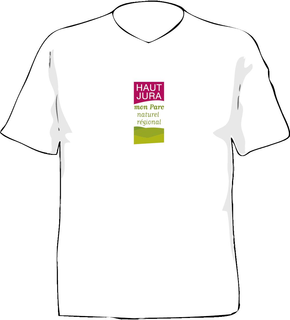 identité visuelle parc naturel régional haut jura tee-shirt